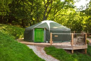 Glamping Wales in a luxury Mongolian yurt