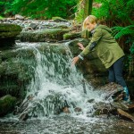 Nature woodland stream glamping Wales