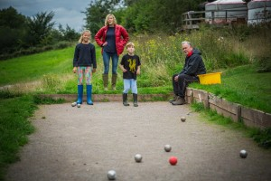 Games for the family glamping site Wye Valley Wales