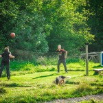 Games outdoor fun glamping Wales