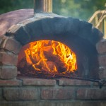 Pizza oven at Hidden Valley Yurts glamping site Wales