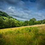 Hills at Hidden Valley Yurts glamping site Wales