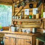 Private kitchen at Hidden Valley Yurts glamping