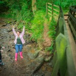 Stream games at Hidden Valley Yurts glamping