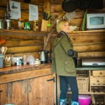 Cooking at Hidden Valley Yurts glamping Wye Valley