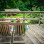 Relaxation at Hidden Valley Yurts glamping Wye Valley