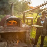 Outdoor pizza oven and bbq at our glamping site in South Wales