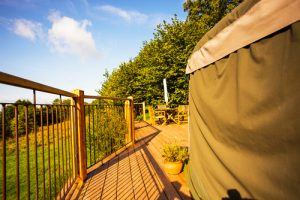 What is glamping? A Yurt at our glamping site in South Wales
