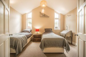 Twin bedroom sleeps 6 holiday home Wales