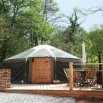 Yurt 1 front idyllic glamping site in Wye Valley