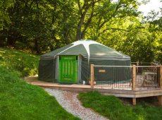 Yurt 2 exterior Wales Glamping Holiday