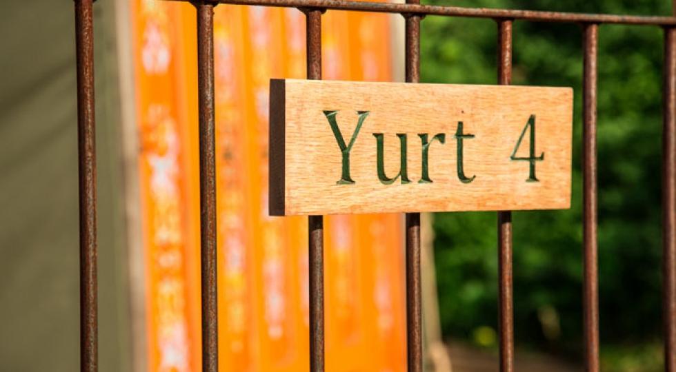 Yurt 4 Hidden Valley Yurts Mongolian sign