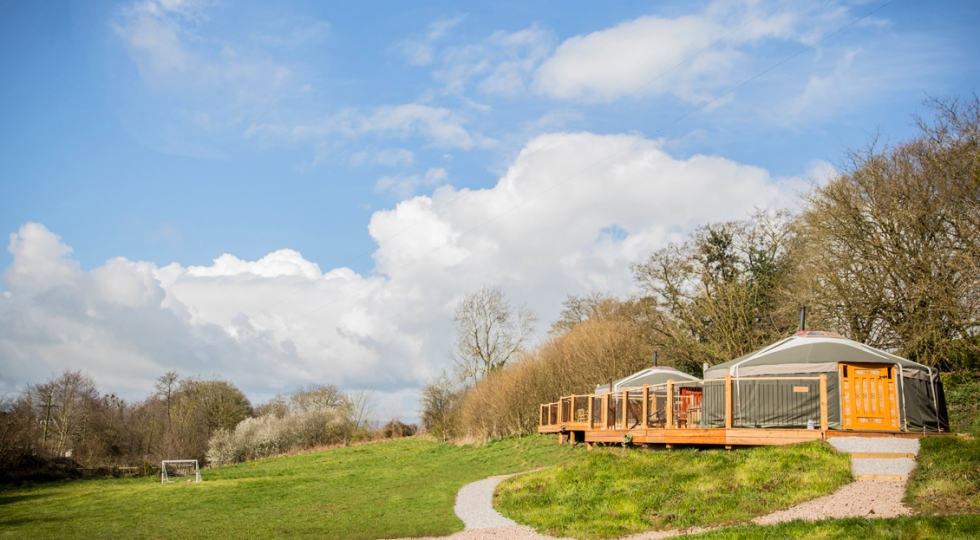 Yurts 4 and 5 new decks at Hidden Valley Yurts Monmouthshire