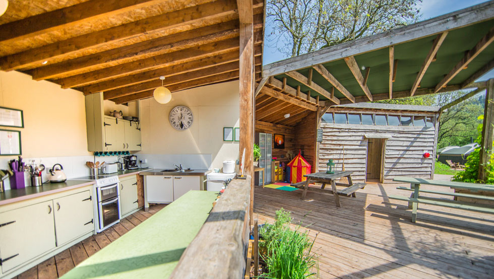 Kitchen Glamping South Wales at Hidden Valley Yurts